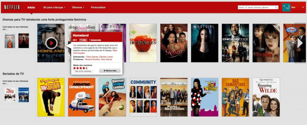"""Captura de Tela 2013 08 22 às 09.54.17 - Netflix apresenta função """"Minha Lista"""""""