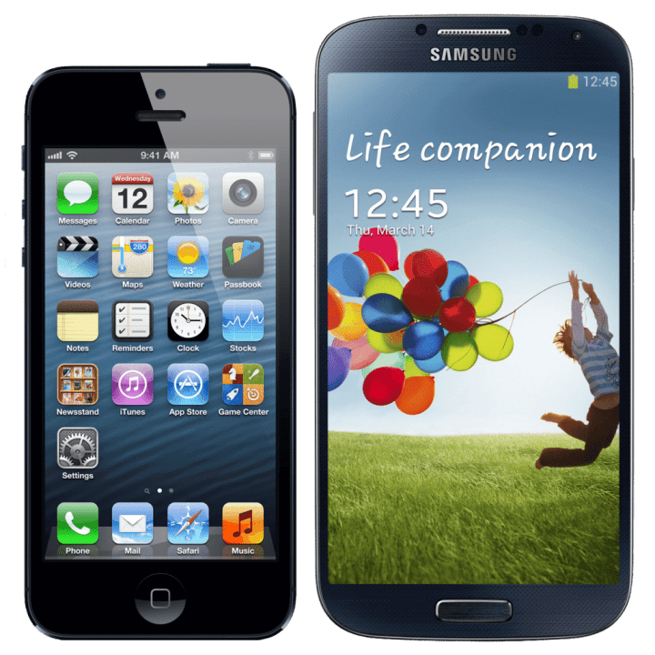 iPhone 5 x Galaxy S4