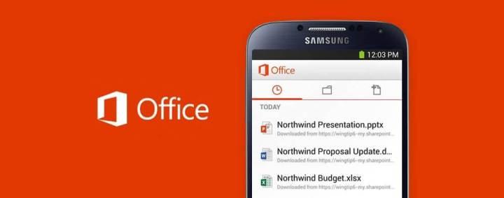 office mobile android1 720x283 - Samsung Galaxy S6 terá TouchWiz enxuta e apps da Microsoft