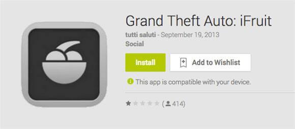 ifruit encontrado em google play fake2 - iFruit para Android? Cuidado!