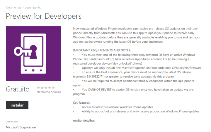 preview developer 720x452 - Seja o primeiro a testar as novidades do Update 3 para Windows Phone!