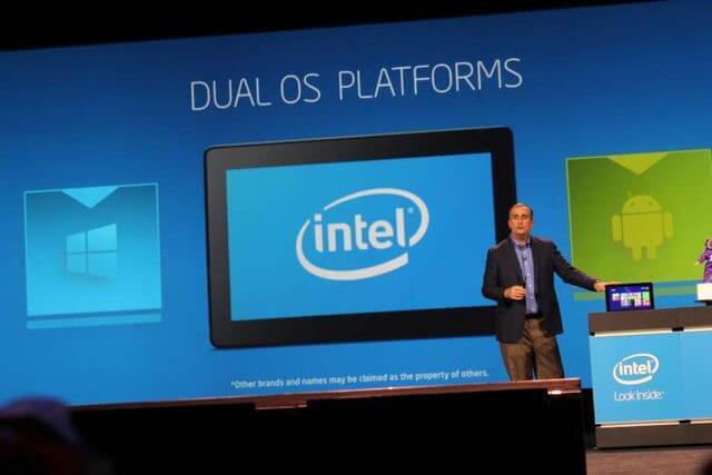 intel dual os - Intel na CES 2014: relógio e headset inteligentes, micro PC e Android com Windows