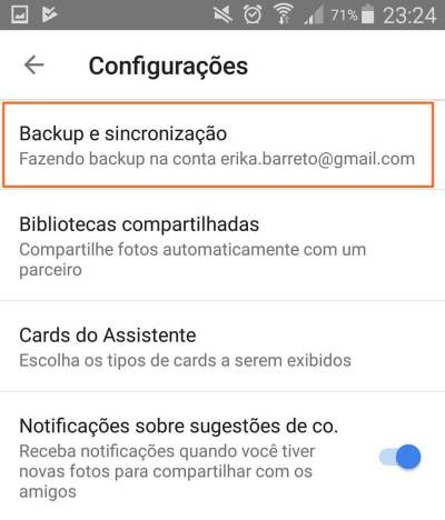 3 Backup e sincronização - Tutorial: Impedindo que o Google+ Auto Backup salve fotos do Whatsapp