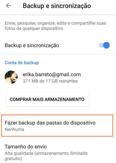 4 Fazer backup das pastas do dispositivo - Tutorial: Impedindo que o Google+ Auto Backup salve fotos do Whatsapp