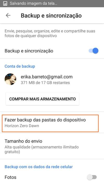 6 Pasta já selecionada - Tutorial: Impedindo que o Google+ Auto Backup salve fotos do Whatsapp