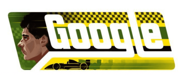 Google homenageia o piloto Ayrton Senna / reprodução