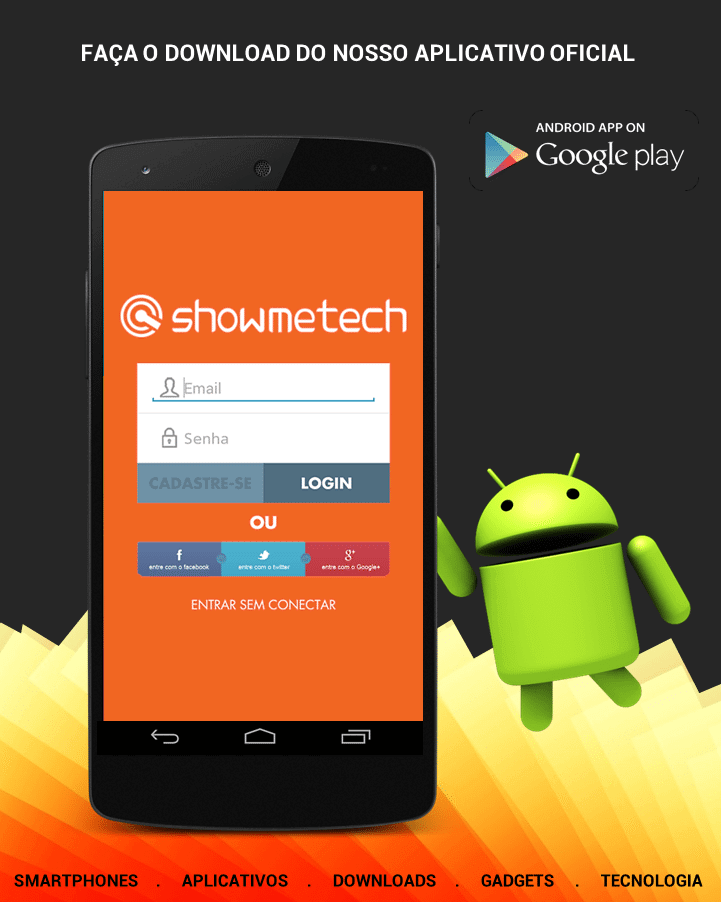 SMT Banner Aplicativo Android app - Showmetech beta