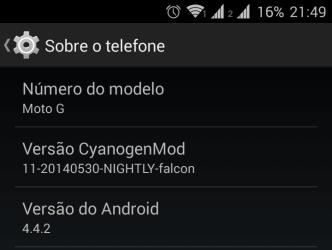 CM11 - Moto G Dual Sim (SMT)