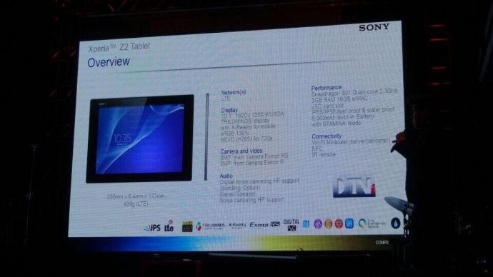 tablet 3 720x405 - Sony Brasil lança Xperia Z2, Xperia Z2 tablet e SmartBand
