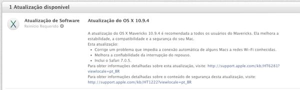 Mac OS X 10.9.4 - Apple publica o iOS 7.1.2 e OS X 10.9.4