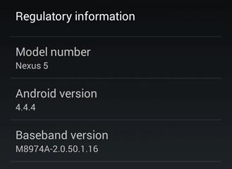 Google libera atualização Nexus 5 Android 4.4.4 Update (KTU84P)