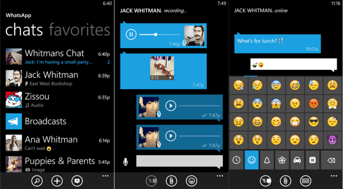 whatsapp 1 720x398 - WhatsApp retorna ao Windows Phone e traz novas funções