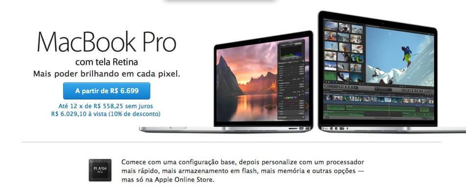 MacBook Pro Retina mid 2014 - Apple atualiza linha MacBook Pro Retina