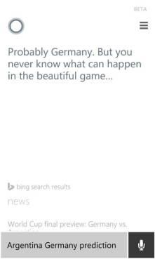 Previsao Alemanha x Argentina Copa do Mundo  - Alemanha vence a Copa do Mundo segundo previsão do Bing