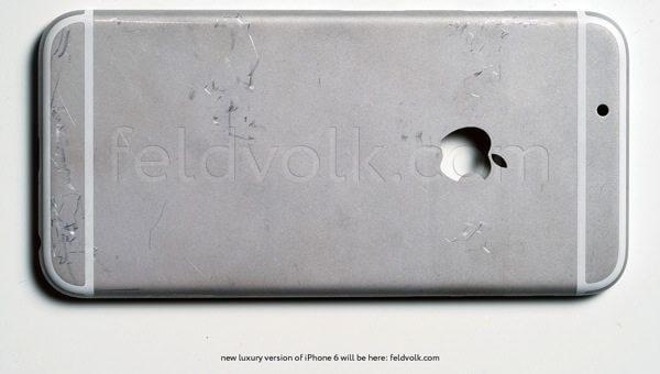 iPhone 6 traseira prata - iPhone 6: carcaça traseira aparece em fotos e vídeos de alta qualidade