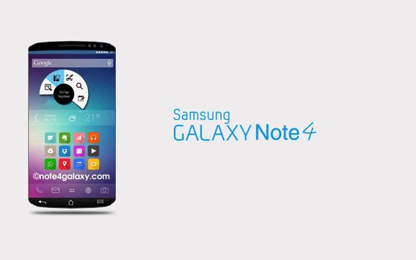 Conceito Galaxy Note 4 - Samsung marca data para apresentar o Galaxy Note 4: 3 de setembro
