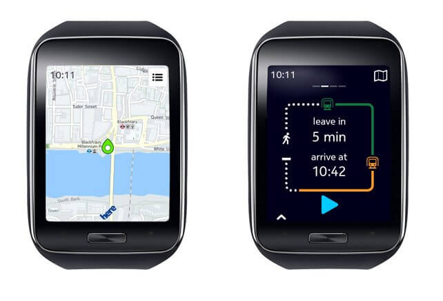 Gear S e Here Maps