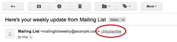 UnsubscribeLink - Gmail facilitará saída de listas de email