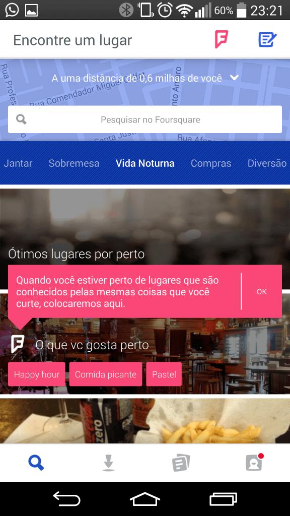 """wpid wp 1407411255241 - Foursquare lança nova atualização e acaba com o """"check-in"""""""