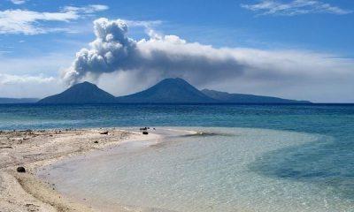 Vídeo mostra vulcão entrando em erupção