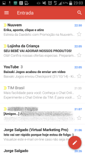 caixa de entrada gmail 168x300 - Gmail 5.0 para Android com novo design e mais recursos