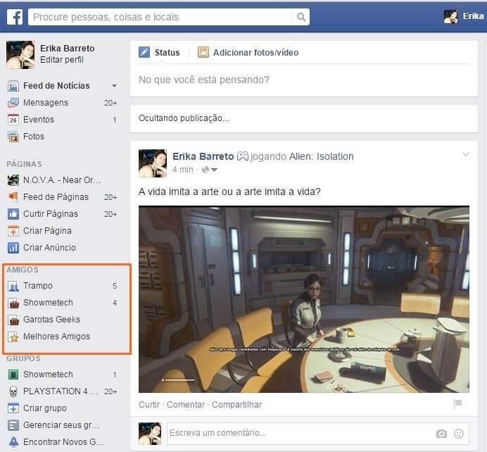 face 1 ok - Tutorial: como não perder atualizações dos seus amigos no Facebook