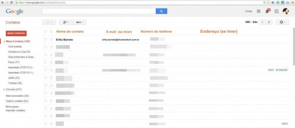 mesclar contatos - Tutorial: Mesclando contatos duplicados no Google