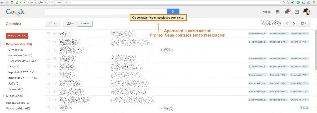 mesclar contatos4 - Tutorial: Mesclando contatos duplicados no Google