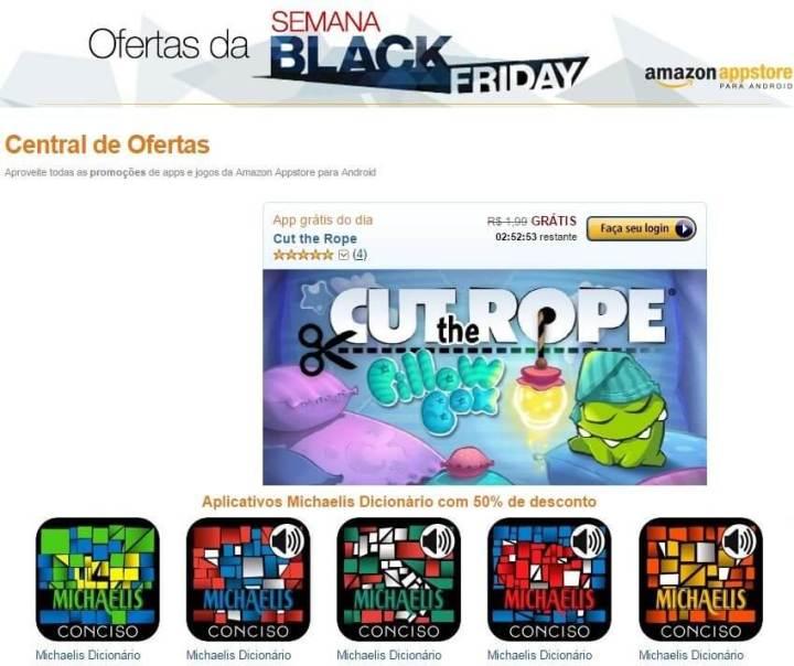 amazon app black friday 720x604 - Amazon oferece R$ 350 em aplicativos grátis na Black Friday
