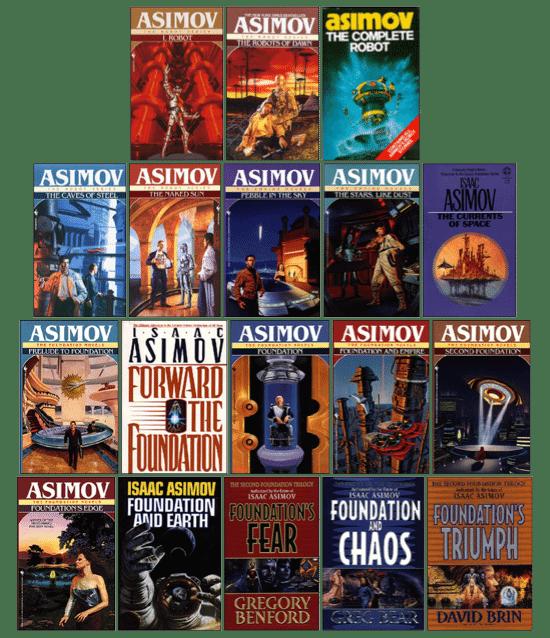 asimovbooks2 - Fundação de Isaac Asimov virará serie na HBO