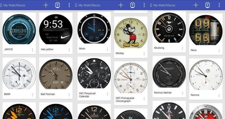 Facer app Android Wear smartwatch