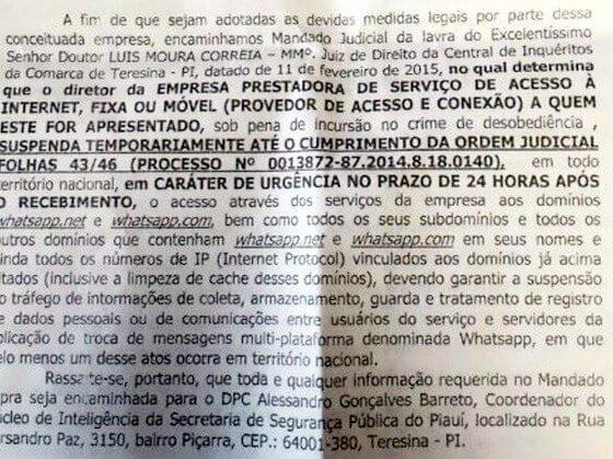 app1 - Juiz pede a suspensão do WhatsApp em todo Brasil
