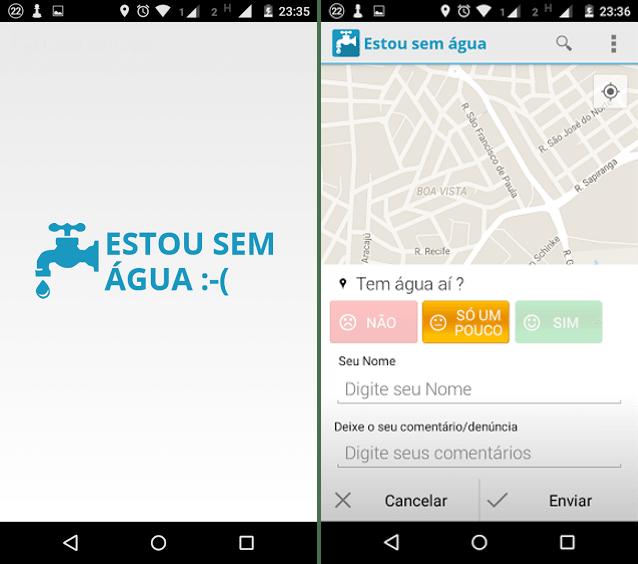 estou sem agua - Aplicativo ajuda a mapear onde ocorre falta de água
