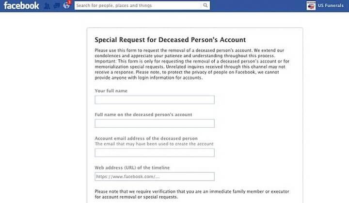 facebook memorialization 720x418 - Além da vida: Facebook cria recurso para gerir perfis de usuários falecidos