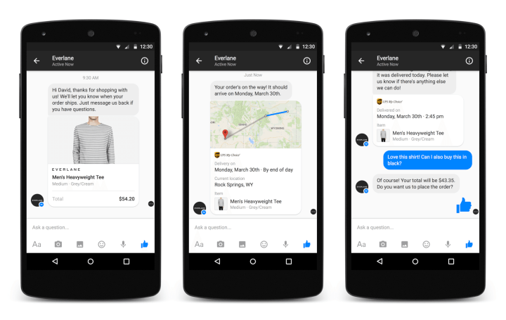 conversation with business 720x455 - F8 2015: Messenger do Facebook vira plataforma para apps e empresas