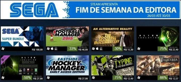 fim de semana sega 720x326 - Promoções de Jogos SEGA no STEAM