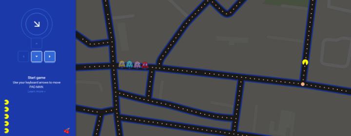 googlemapspacman 798x310 720x280 - Jogue Pac-Man na sua rua com o Google Maps