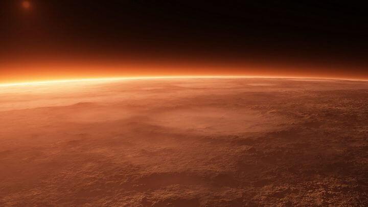 mars atmosphere 720 720x405 - Vida em Marte: Gelo seco poderia fornecer energia para as futuras colônias em Marte