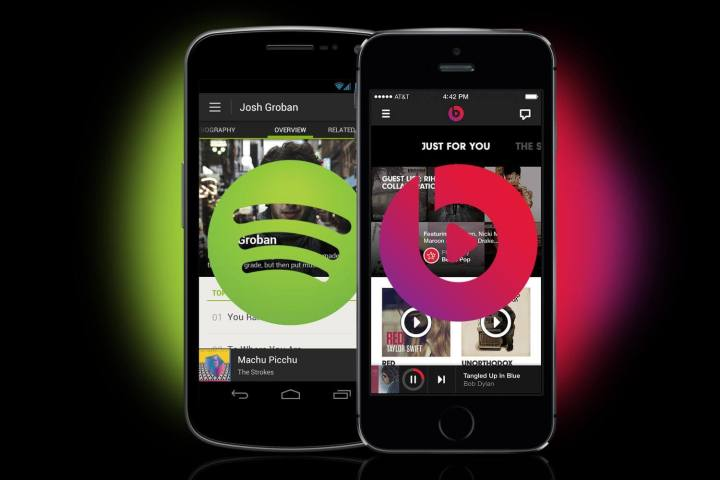 spotify vs dr dre beats music 720x480 - Apple e gravadoras se unem contra o streaming gratuito de músicas