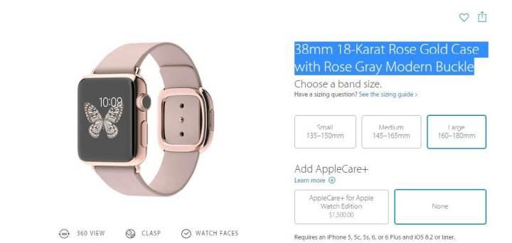 apple watch gold case 720x342 - Apple Watch supera venda anual de relógios com Android Wear; Relógio inteligente pode custar até R$ 98 mil no Brasil