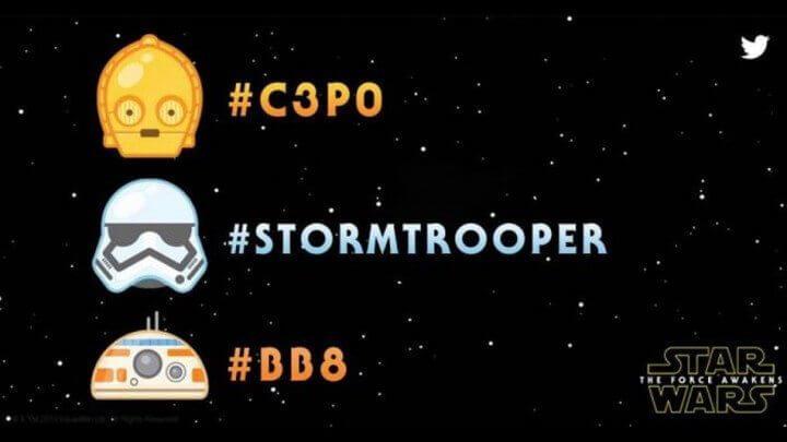 sw emoji 720x405 - Twitter lança emojis dos personagens de Star Wars