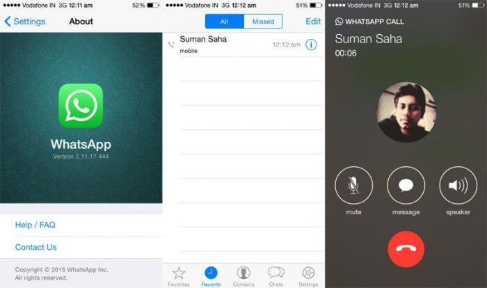 whatsapp ios 700x414 - WhatsApp para iPhone ganha atualização para habilitar chamadas por voz