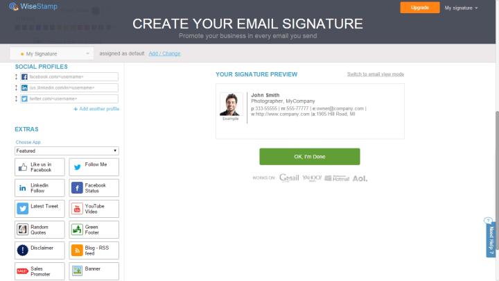 wisestamp 6 720x405 - Tutorial: Aprenda a criar assinaturas de e-mails com o WiseStamp