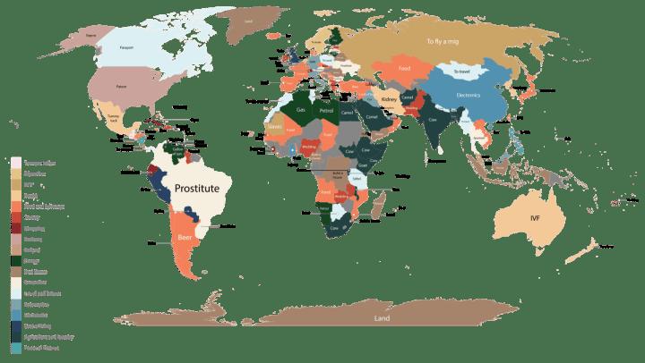 world1 map google words 720x406 - Saiba qual o produto mais pesquisado no Google em cada país