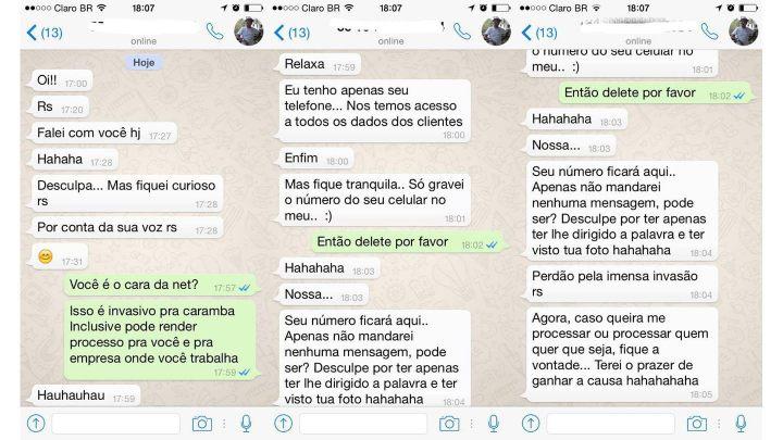 Assédio-atendente-NET-WhatsApp