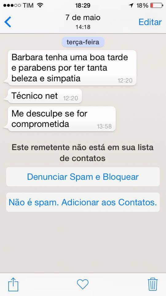 assedio 2 - Funcionários da NET usam dados cadastrais para assediar clientes pelo WhatsApp
