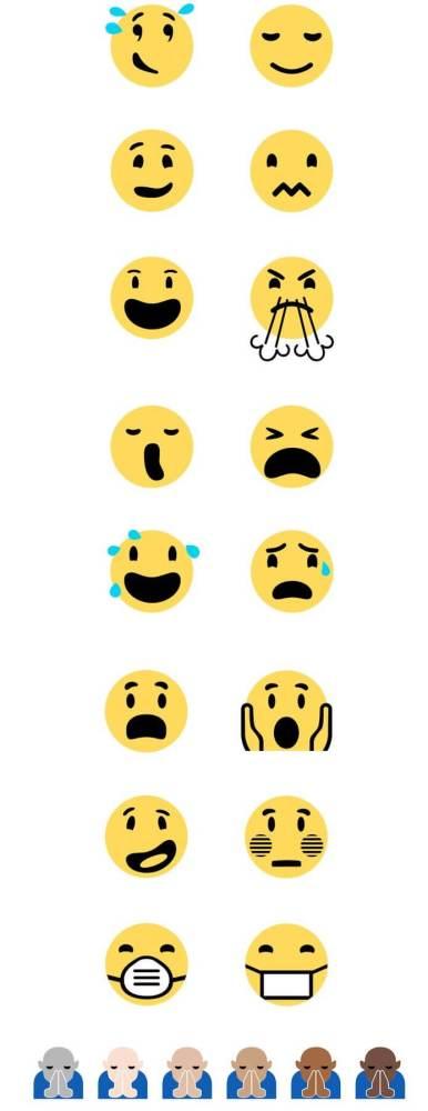 """smt emojis nova linha 386x1000 - Windows 10 renova linha de emojis com novos emoticons e dedo """"mal educado"""""""