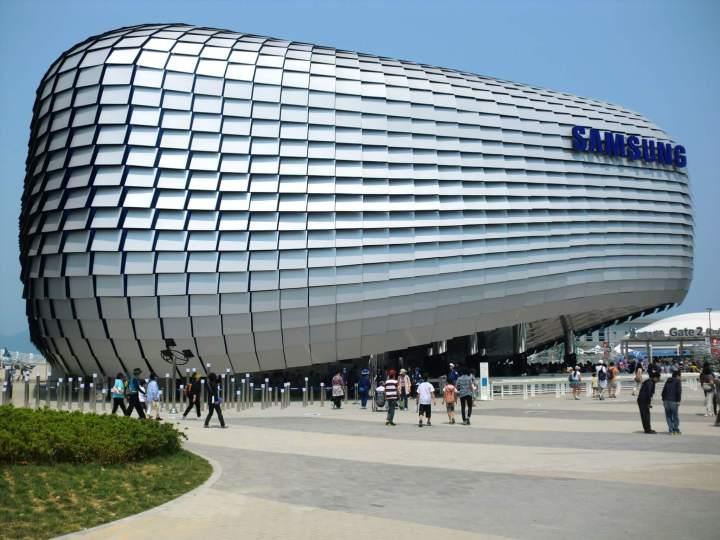 smt expo 2012 samsung pavilion 720x540 - No topo do mundo: A história da Samsung (vídeo)