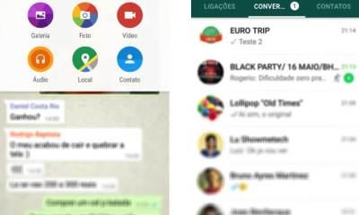 whatsapp material desig android - WhatsApp lança atualização para Android inspirado no estilo Material Design