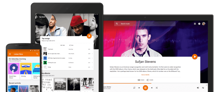 devices2 720x299 - Google lança serviço de streaming gratuito para bater de frente com Apple Music